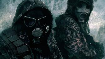 Gas masks camouflage wallpaper