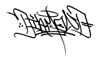 Graffiti signatures simple diamond wallpaper
