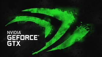 Green nvidia deviantart black background graphics card wallpaper
