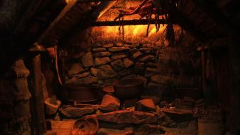 Indoors medieval cottage wiccan sigurour atlason wallpaper