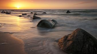 Landscapes nature beach rocks wallpaper