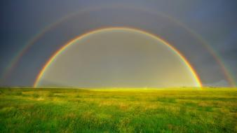 Landscapes nature rainbows wallpaper