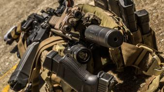 Magpul ar-15 suppressor surefire led weaponlight aimpoint wallpaper
