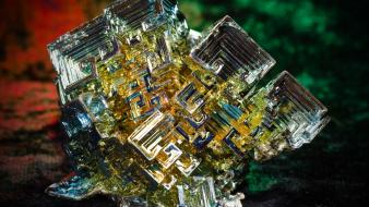 Metal earth rocks stones gems minerals rare bismuth wallpaper