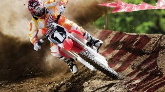 Motocross racing dirtbike off wallpaper