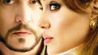 Movies angelina jolie the tourist johnny depp wallpaper