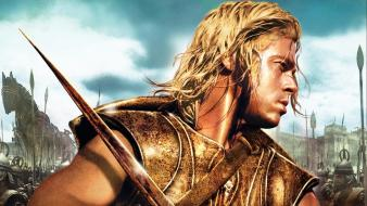 Movies brad pitt troy wallpaper
