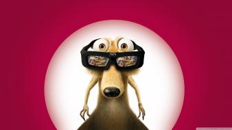Movies ice age scrat hollywood 3d wallpaper
