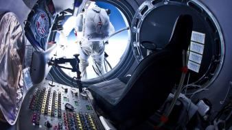Outer space jump felix baumgartner wallpaper