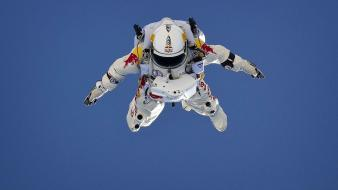 Outer space skydiving jump felix baumgartner wallpaper