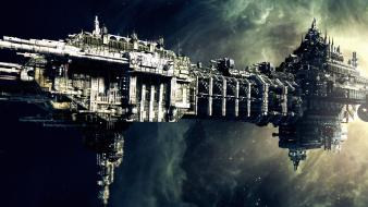 Outer space spaceships battlefleet gothic warhammer 40,000 wallpaper