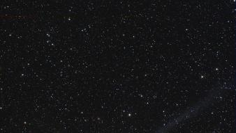 Outer space stars comet wallpaper