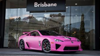 Pink cars lexus lfa matte wallpaper