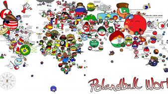 Poland cartoons maps polandball Wallpaper