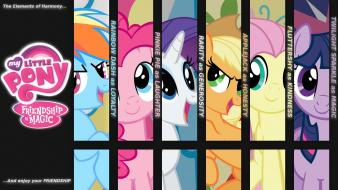 Pony: friendship is magic mane 6 enjoy wallpaper