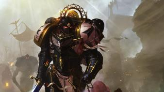 Suit swords black templar space marine 40,000 wallpaper