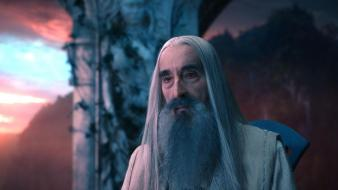 The hobbit saruman christopher lee wallpaper