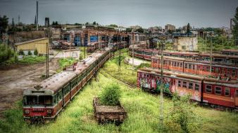Trains poland hdr photography wallpaper