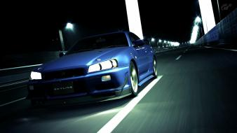 Vehicles skyline gran turismo 5 gt-r r34 wallpaper