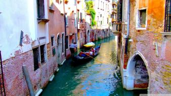 Water nature streets boats venice cities wallpaper