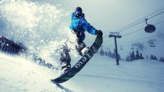 Winter snowboarding snowboard wallpaper