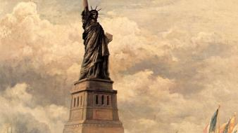 World edward statue of liberty complex magazine Wallpaper