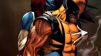 X-men wolverine mystique marvel comics girls wallpaper