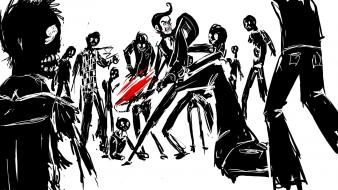 Zombies sketches drawings drawn Wallpaper