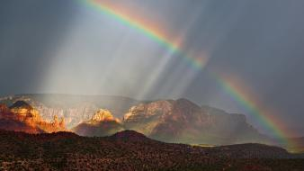 Arizona nature rainbows wallpaper