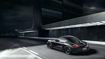 Black porsche cars cayman vehicles s wallpaper