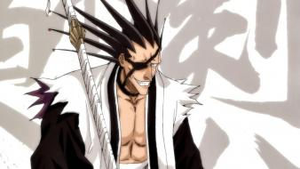 Bleach zaraki kenpachi eyepatch swords wallpaper