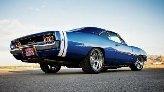 Blue cars hole charger dodge r/t 1970 widescreen Wallpaper