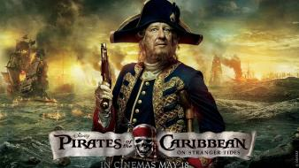 Caribbean on stranger tides captain hector barbossa Wallpaper
