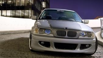 Cars parking vehicles bmw m3 front view e46 wallpaper