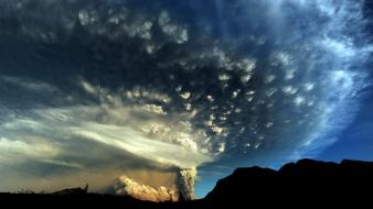 Chile clouds nature ash wallpaper
