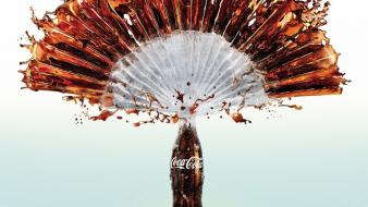Coca-cola spray drinks wallpaper