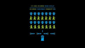 Dalek cybermen space invaders doctor who wallpaper