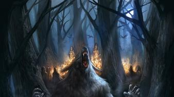 Fantasy art book covers werewolves wallpaper