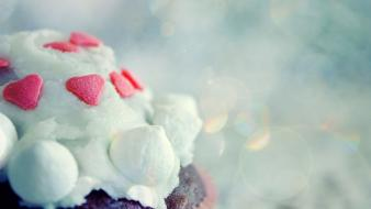 Food cupcakes desserts icing Wallpaper