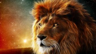 Fractalius lions wallpaper