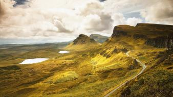 Hills scotland roads lakes isle of skye wallpaper