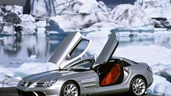 Ice mercedes-benz doors mercedes benz slr mclaren wallpaper
