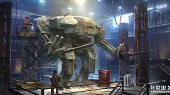 Mech rough hangar hawken wallpaper