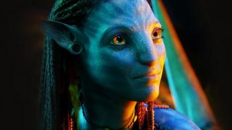 Movies avatar neytiri zoe saldana hollywood james cameron wallpaper