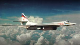 Nature bomber supersonic tu-160 complex magazine russian wallpaper