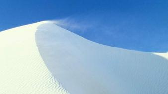 Nature snow desert wallpaper