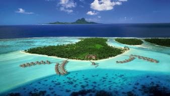 Ocean tropical islands french polynesia wallpaper