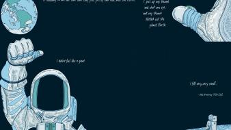 Outer space quotes earth astronauts neil armstrong Wallpaper