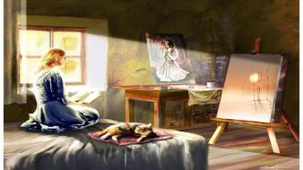 Paintings facebook timeline sunlight sitting cover bedroom easel wallpaper