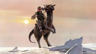 Science fiction artwork ralph mcquarrie traditional vii Wallpaper